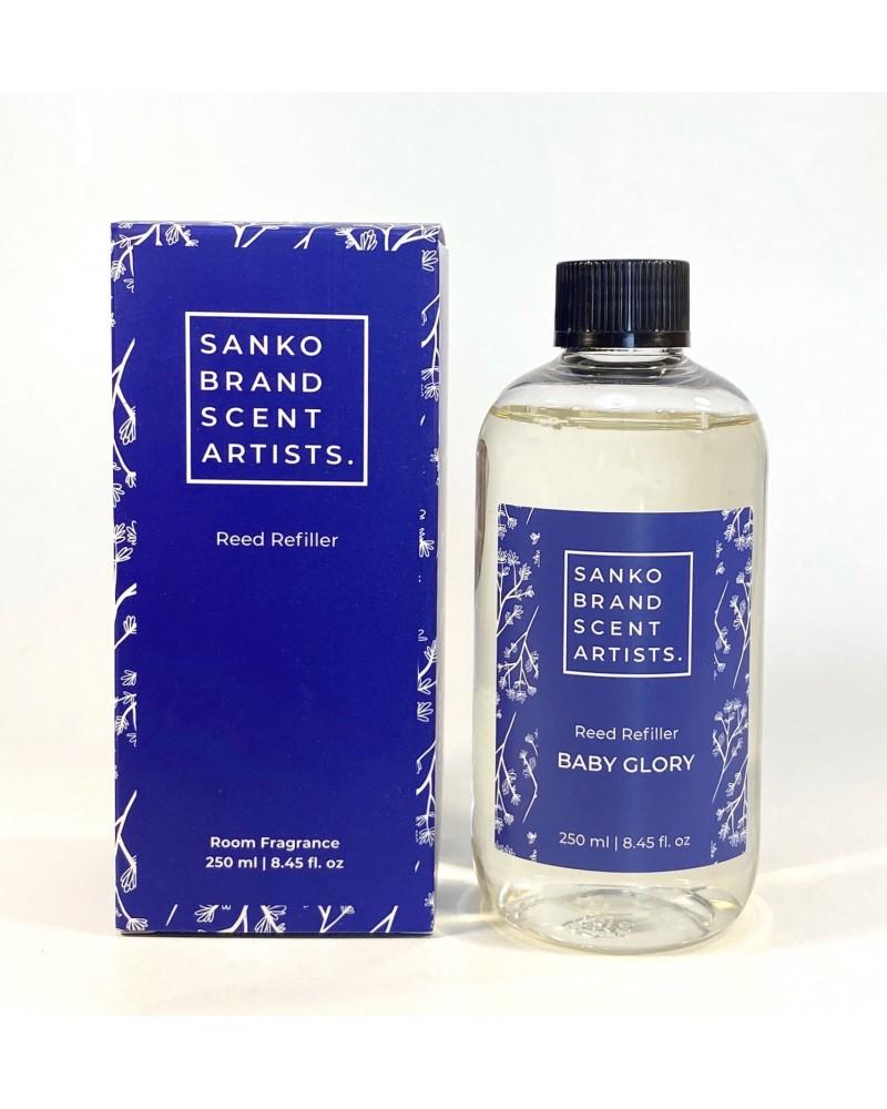 BABY GLORY Reed Refiller αρωματικό χώρου 250 ml (Ανταλλακτικό για το Reed Diffuser)